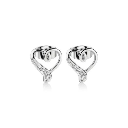 Newbridge Silverware Heart Stud Earrings